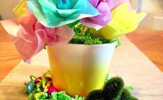 easter candy spring centerpiece, crafts, easter decorations, how to, seasonal holiday decor