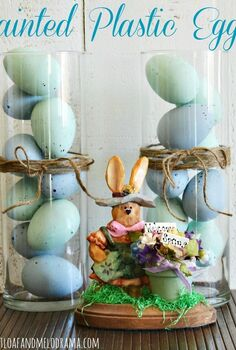 dress up your old plastic easter eggs with paint, chalk paint, crafts, easter decorations, how to, seasonal holiday decor