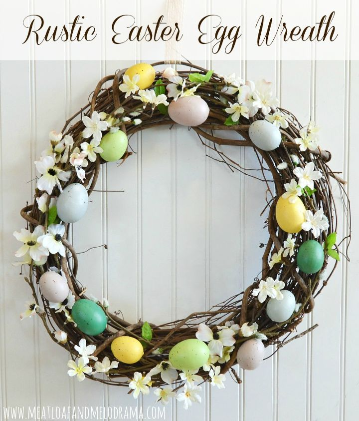 Diy Egg Wreath Crafts Easter Decorations How To Seasonal Holiday Decor