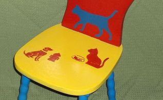 an old kiddie chair gets a face lift, painted furniture