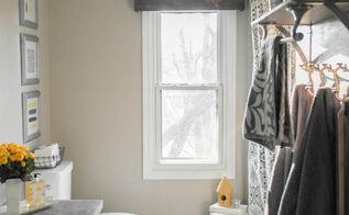 diy wood valance, bathroom ideas, how to, window treatments, windows, woodworking projects