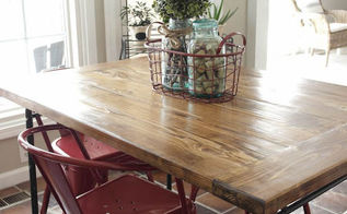 ikea industrial farmhouse table hack, diy, how to, painted furniture, repurposing upcycling, woodworking projects