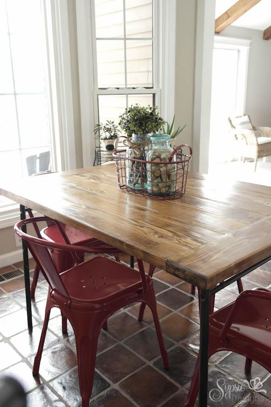 Ikea industrial farmhouse table hack hometalk for Ikea farmhouse table hack