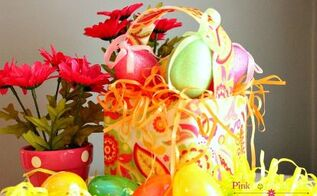 lilly pulitzer inspired easter basket craft, crafts, decoupage, easter decorations, seasonal holiday decor