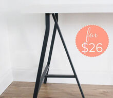build your own ikea desk, home office, painted furniture