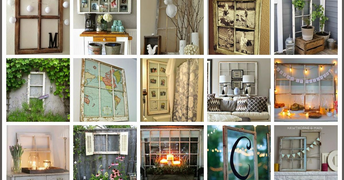 How to decorate with old windows hometalk - How to decorate my home ...