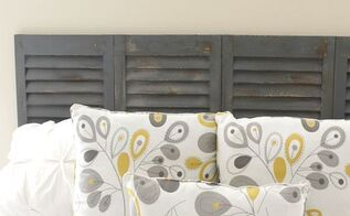 diy shutter headboard, bedroom ideas, how to, repurposing upcycling