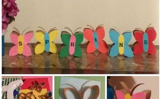 spring is here diy butterflies, crafts, how to, repurposing upcycling