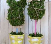 mr mrs moss bunny topiaries, crafts, easter decorations, how to, seasonal holiday decor