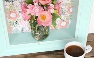diy pastel floral shadowbox shelf, crafts, decoupage, how to, woodworking projects