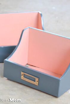 coral and gray charging station valet, crafts, repurposing upcycling