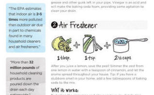 infographic make eco friendly cleaning products, cleaning tips, go green