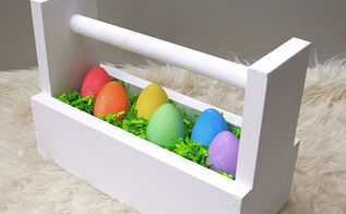 wood box caddy, crafts, easter decorations, how to, seasonal holiday decor, woodworking projects