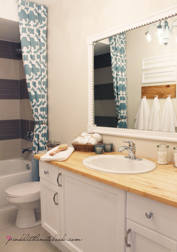 How To Frame Out That Builder S Grade Mirror The Easy Way Hometalk