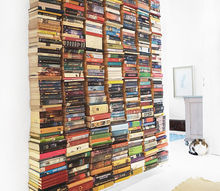 floating book wall, diy, repurposing upcycling, shelving ideas, wall decor