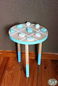 diy tic tac toe wooden stool, how to, painted furniture, woodworking projects