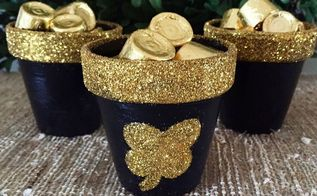pots of gold, crafts, decoupage, seasonal holiday decor