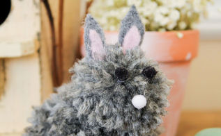 diy baby pom pom bunny, crafts, easter decorations, seasonal holiday decor