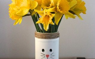 diy recycled easter bunny vases, crafts, easter decorations, flowers, how to, repurposing upcycling, seasonal holiday decor