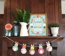 easy and cute bunner banner, crafts, easter decorations, how to, seasonal holiday decor