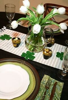 st patrick s day tablescape, dining room ideas, seasonal holiday decor