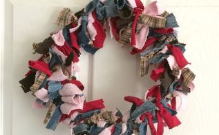 upcycled rag wreath, crafts, how to, repurposing upcycling, wreaths