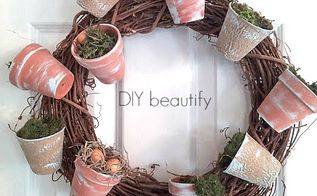 flowerpot moss wreath with dollar store items, crafts, easter decorations, how to, repurposing upcycling, seasonal holiday decor, wreaths