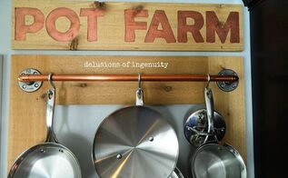 pot farm or pot rack, kitchen design, storage ideas, wall decor