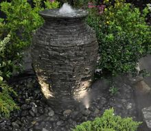 fountainscapes of western massachusetts and northern connecticut, ponds water features, Mini Stacked Slate Urn in West Springfield MA
