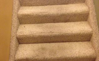 q stairs removing carpet wood or re treads, flooring, hardwood floors, stairs, reupholster