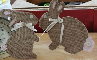 bottons and bows burlap bunnies easter, crafts, easter decorations, how to, seasonal holiday decor