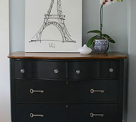 Black Dresser With Vintage Inspired Key PullsHometalk