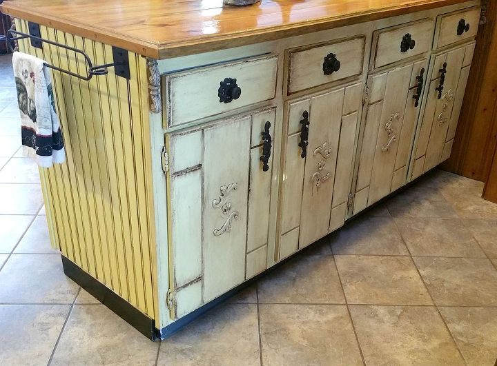 Decoupage Kitchen Cabinets - Rooms