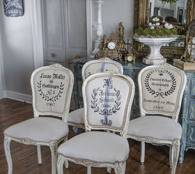 Beautiful French Chair Renovation With Grains Sacks And Stencils, Chalk Paint, How  To, Painted