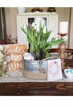 easter is in the air, dining room ideas, easter decorations, seasonal holiday decor