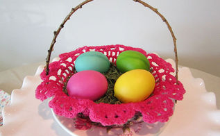 doily easter basket, crafts, easter decorations, how to, repurposing upcycling, seasonal holiday decor