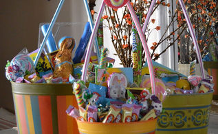 diy easter baskets, crafts, easter decorations, seasonal holiday decor