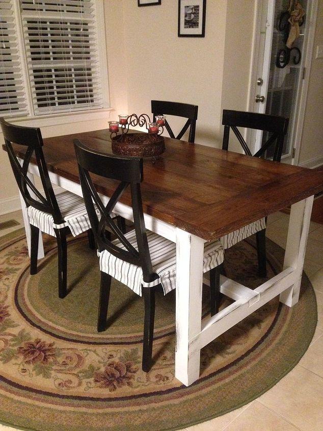 Diy farm table on the cheap hometalk for 2x4 farm table
