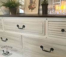 two toned color washed dresser, chalk paint, painted furniture