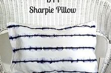 diy sharpie pillow, crafts, how to, repurposing upcycling, reupholster