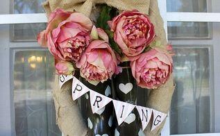 spring rainboot wreath, crafts, how to, repurposing upcycling, seasonal holiday decor, wreaths