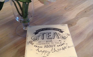 diy tea box, chalk paint, crafts, decoupage, how to
