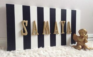 diy nursery canvas wall art, bedroom ideas, crafts, how to, wall decor