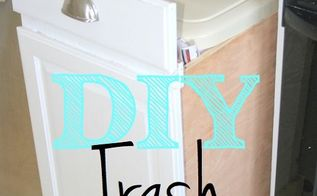 how to build a pull out trash bin from existing cabinets, kitchen cabinets, kitchen design, storage ideas