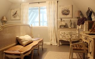 french country a frame cottage tour part 2 bedrooms, bedroom ideas, home decor