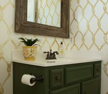 nautical inspired bathroom makeover, bathroom ideas, home improvement, painted furniture, painting