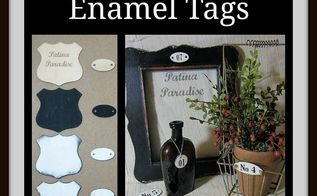 diy faux french enamel tags, crafts, how to, repurposing upcycling
