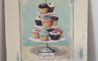shabby chic cupcake sign from a cabinet door, crafts, doors, repurposing upcycling, shabby chic
