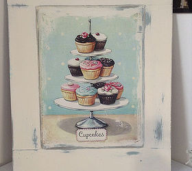 shabby chic cupcake sign from a cabinet door crafts doors repurposing upcycling