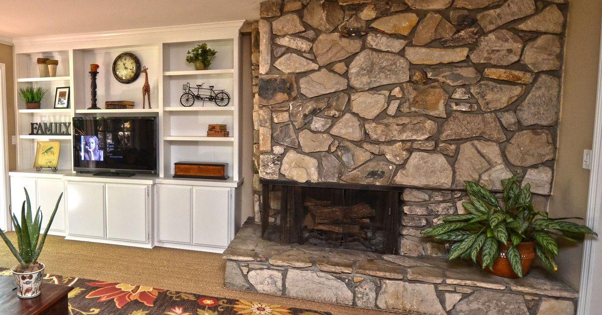 Idea for quick fireplace update Hometalk